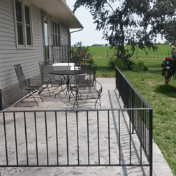 Patio Rails, Custom Rails, Fairfield, IA